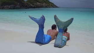 Couples card mermaids